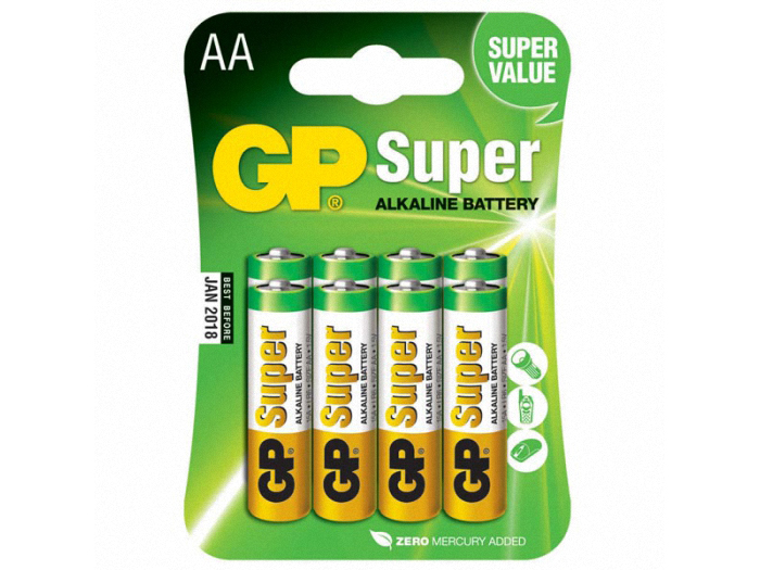 Батарейки для пульта управления GP Super Alkaline AA типа (8 шт.)