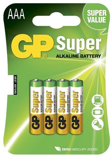 Батарейки для пульта управления GP Super Alkaline AАA типа (4 шт.)