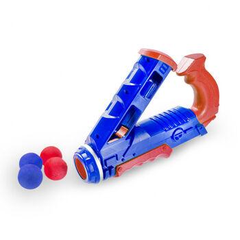 Синий помповый пистолет с шарами - 055-3