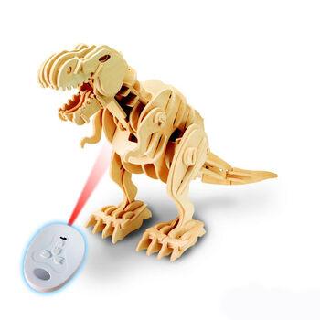 Деревянный конструктор с ДУ, звуковой контроль, звуковые эффекты D-LEX Тираннозавр - EL-D200