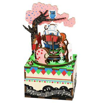 Деревянный 3D конструктор - музыкальная шкатулка Robotime Forest Concert - AM404