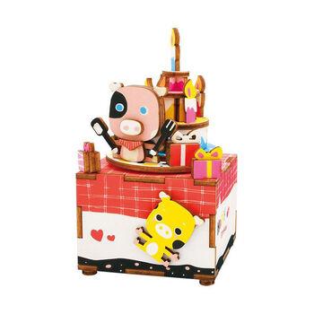 Деревянный 3D конструктор - музыкальная шкатулка Robotime Sweet heart - AM309
