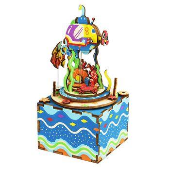 Деревянный 3D конструктор - музыкальная шкатулка Robotime Under The Sea - AM406