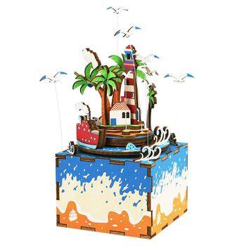Деревянный 3D конструктор - музыкальная шкатулка Robotime Vocational Island - AM407