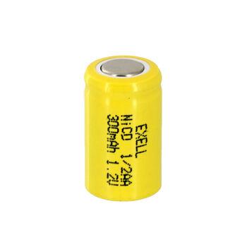 Аккумулятор Ni-Cd 1/2 AA 1.2v 300mah Flat Top (1 шт)