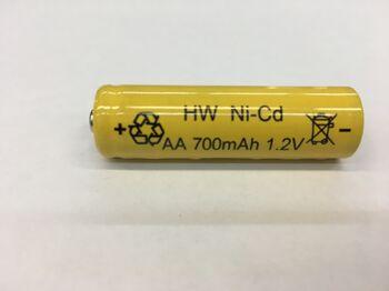 Аккумулятор Ni-Cd AA 1.2v 700mah Button Top (1 шт)