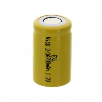 Аккумулятор NiCd 2/3АА 1.2V 700mAh Flat Top (1шт)