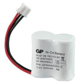 Аккумулятор NiCd 1/2AA 2.4V 300mAh GP T-328 Flatpack UNI Plug