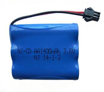 Аккумулятор Ni-Cd 3.6v 1400mah форма Flatpack разъем YP