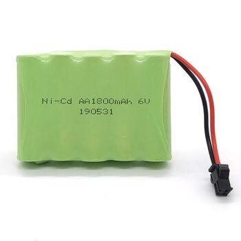 Аккумулятор Ni-Cd 6v 1800mah форма Flatpack разъем YP