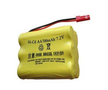 Аккумулятор Ni-Cd 7.2v 700mah форма Row разъем JST