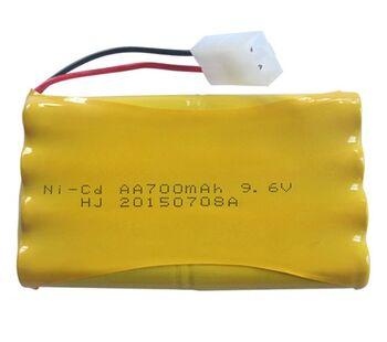 Аккумулятор Ni-Cd 9.6v 700mah форма Column-Row разъем Tamiya