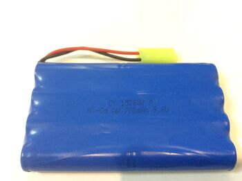 Аккумулятор Ni-Cd 9.6v 700mah форма Column-Row разъем MiniTamiya