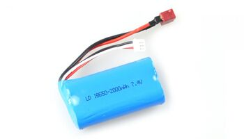 Аккумулятор для Remo Hobby 1/16 18650 Li-Ion 7.4v 2000mah разъем T-Plug