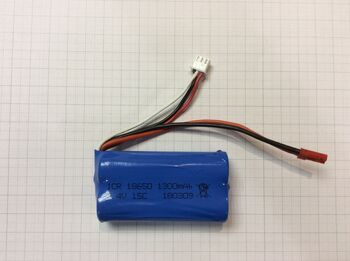 Аккумулятор 18650 Li-Ion 7.4v 1300mah ICR разъем JST
