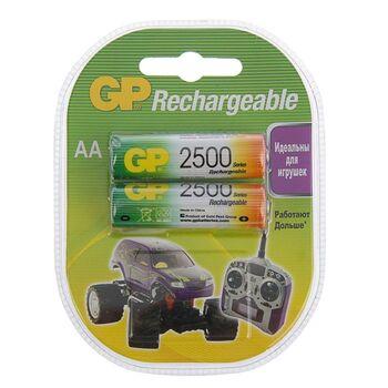 Аккумулятор GP, АА, HR6-2BL, 2500 mAh, блистер, 2 шт.