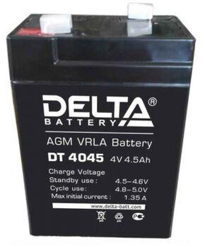 Аккумулятор Pb DELTA 4V 4500 mAh DT 4045