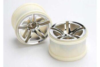 Wheels, Twin-Spoke 2.8'' (chrome) (nitro rear/ electric front) (2)