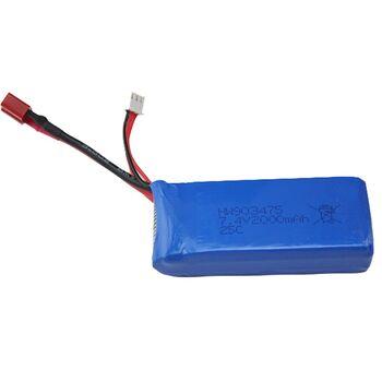 Аккумулятор Li-Po 7.4v 2000mah формат 903475 разъем T-Plug