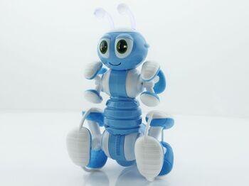 Радиоуправляемый робот-муравей трансформируемый, звук, свет, танцы (синий)