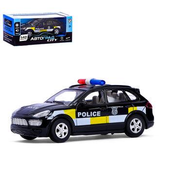 Машина металлическая Полицейский джип, инерционная, свет и звук, масштаб 1:43