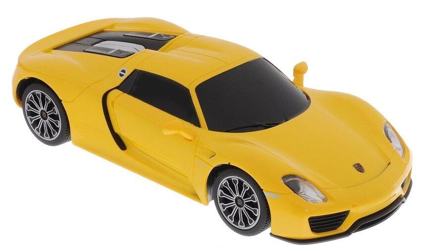 Машина Rastar 71400 PORSCHE 918 Spyder 1:24 Цвет Желтый 40MHZ
