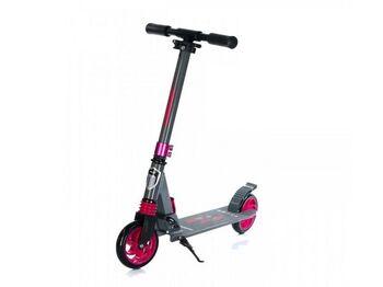Самокат двухколесный Racer (серо-розовый)
