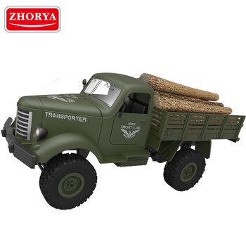Радиоуправляемый военный грузовик Transporter 1/16 открываются капот, двери, кузов