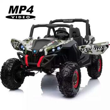Двухместный полноприводный электромобиль Camouflage UTV-MX Buggy 12V MP4 - XMX603-GREEN-PAINT-MP4