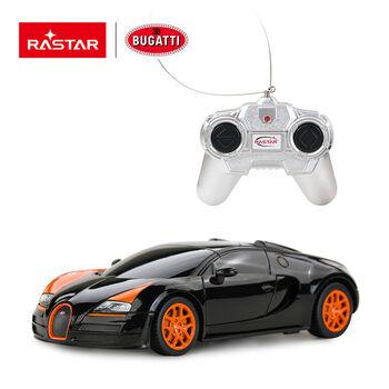 Радиоуправляемая машина Rastar 47000 Bugatti Grand Sport Vitesse 1:24 Цвет Черный