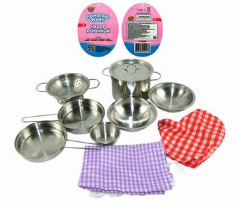 Набор посуды металлической для кухни Помогаю Маме, 11 предметов