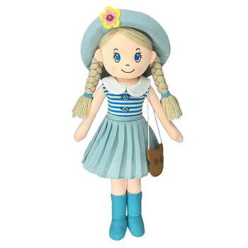 Кукла мягконабивная в шляпе и с сумочкой, 50 см