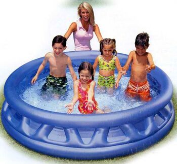 Бассейн надувной Soft Side Pool, серебристый,серый 188х46 см
