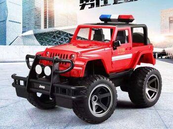Радиоуправляемый джип Double Eagle пожарная охрана 1:12 2.4G
