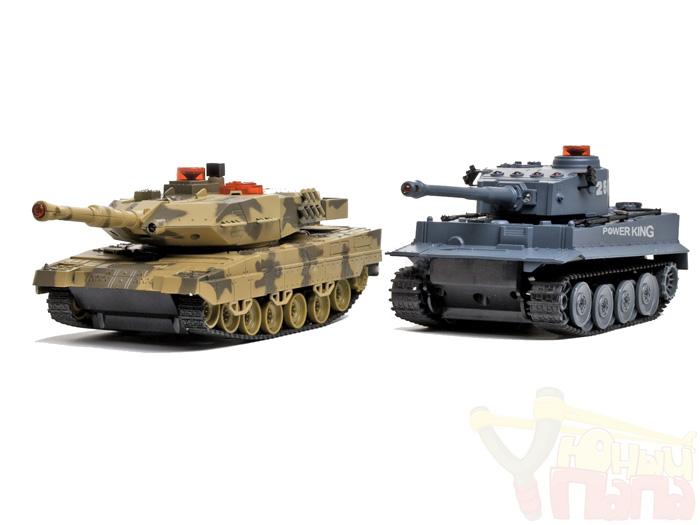 Радиоуправляемый танковый бой Huan Qi Tiger vs Leopard 1:32